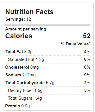 pumpkin mac and cheese nutrition facts