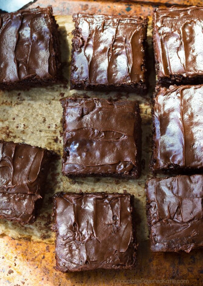 Super Fudgy Vegan Chickpea Brownies