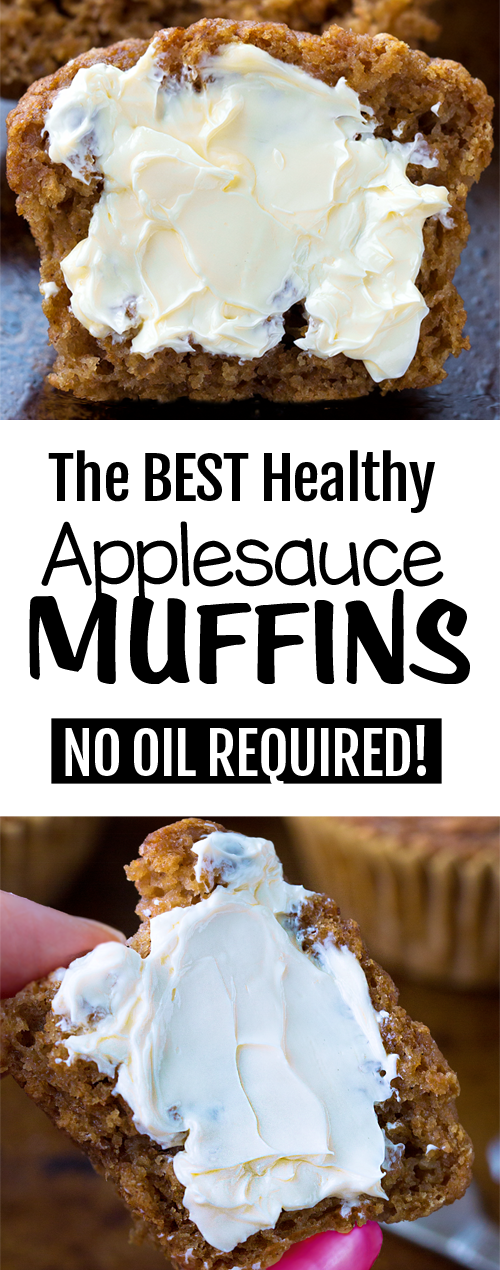 Super Healthy Applesauce Muffins