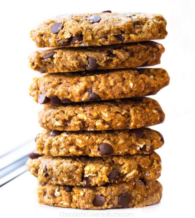 Os melhores biscoitos de abóbora com gotas de chocolate