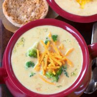 Secretly Healthy Broccoli Cheddar Soup Recipe