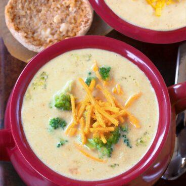Secretly Healthy Broccoli Cheddar Soup Recipe