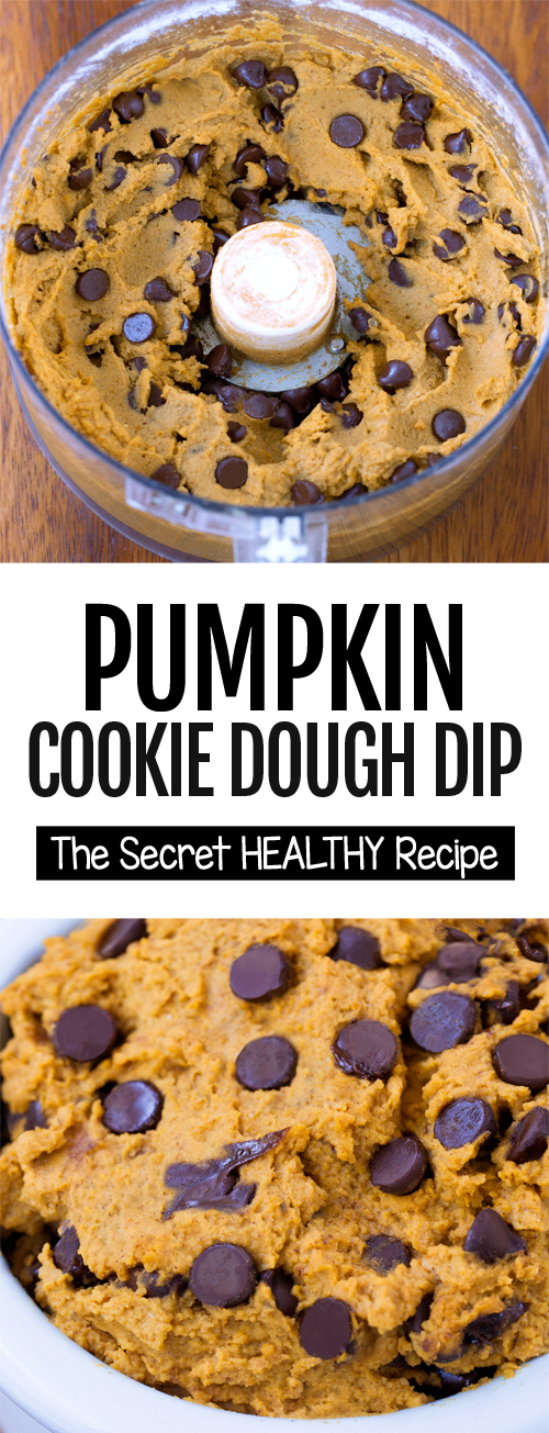 Secretly Healthy Pumpkin Chocolate Chip Cookie Dough Dip