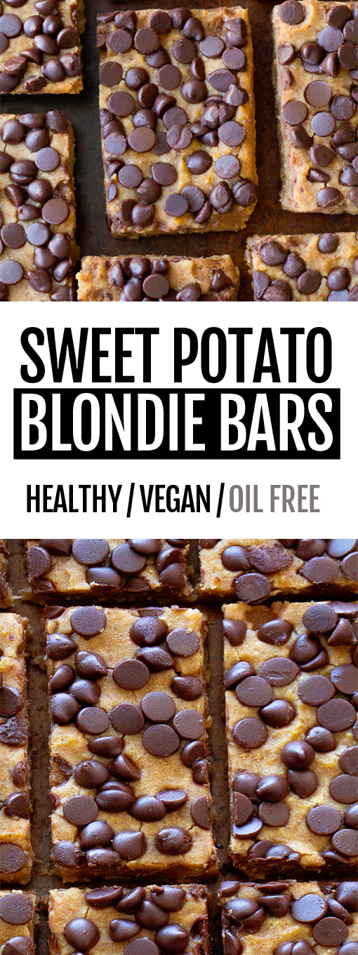 Secretly Healthy Sweet Potato Blondie Bars