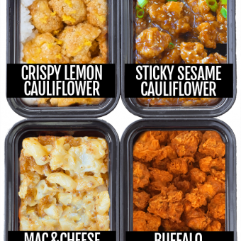 Cauliflower Meal Prep 4 Ways