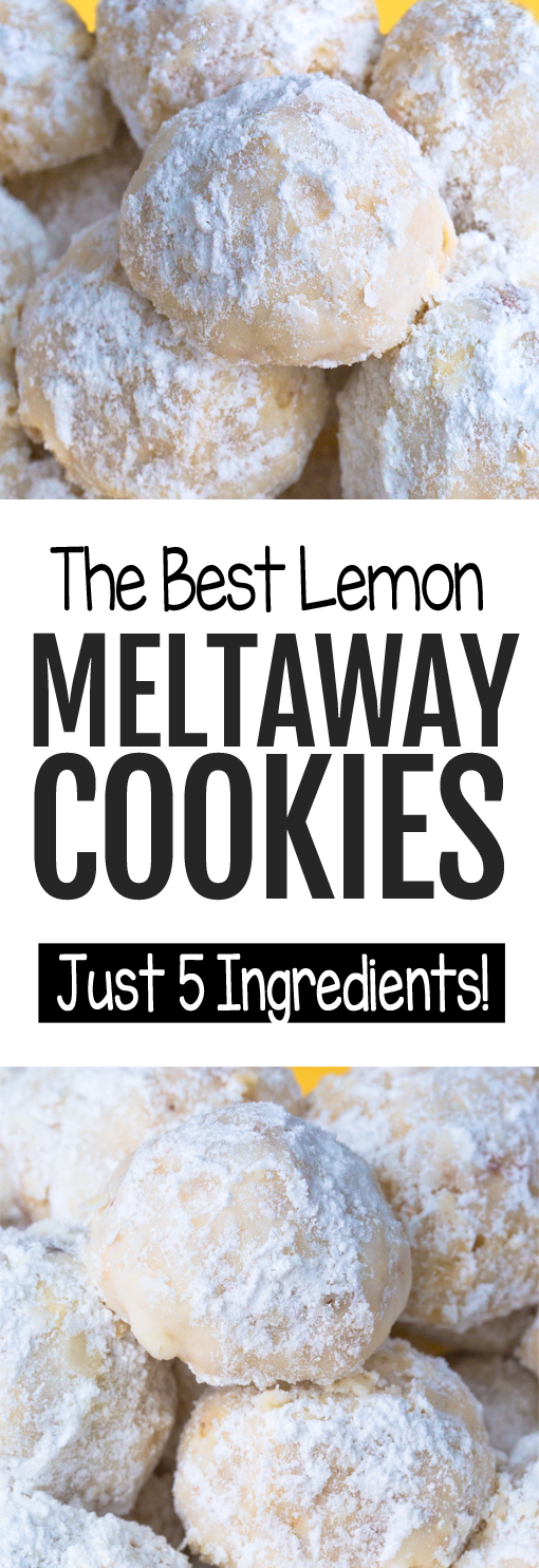 Easy Lemon Meltaway Cookies That MELT In Your Mouth