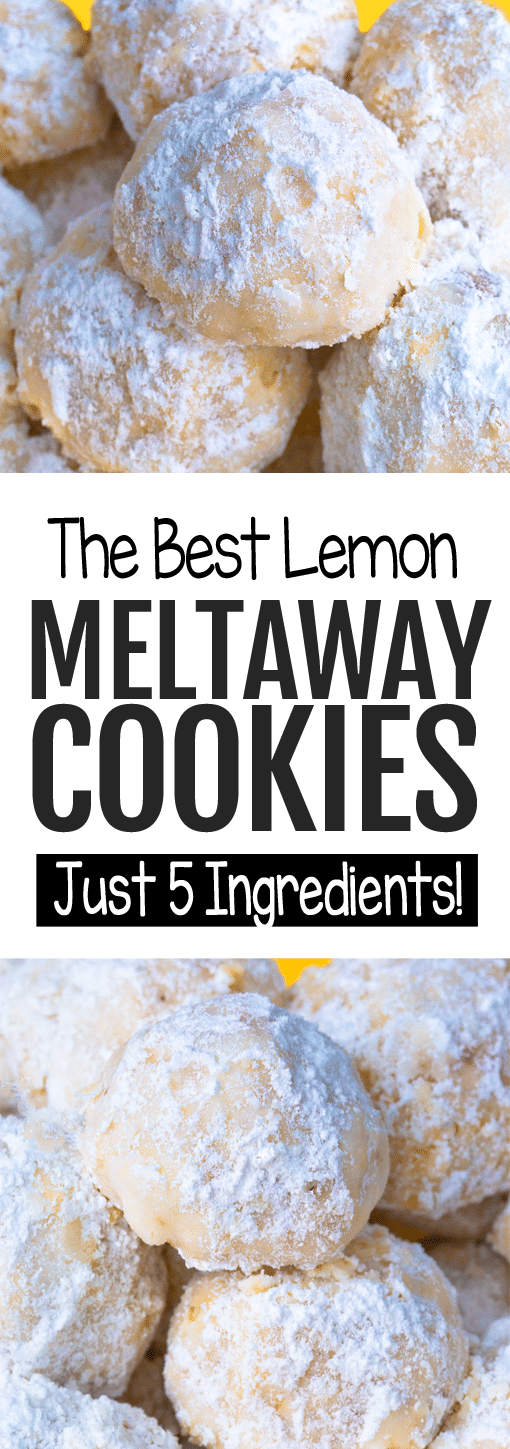 Lemon Meltaway Cookies That MELT In Your Mouth