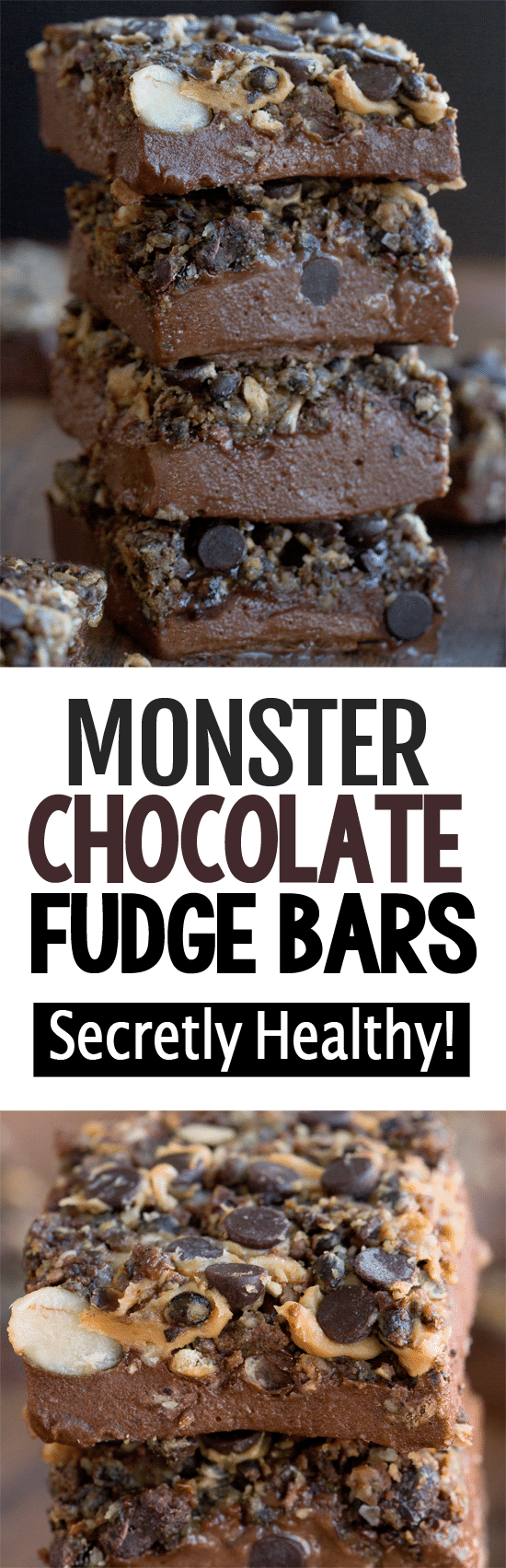 Secretly Healthy Monster Chocolate Fudge Bar Recipe