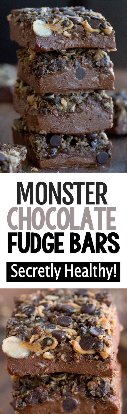 Secretly Healthy Monster Chocolate Fudge Bars