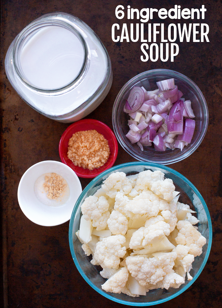 Cauliflower Soup Ingredients