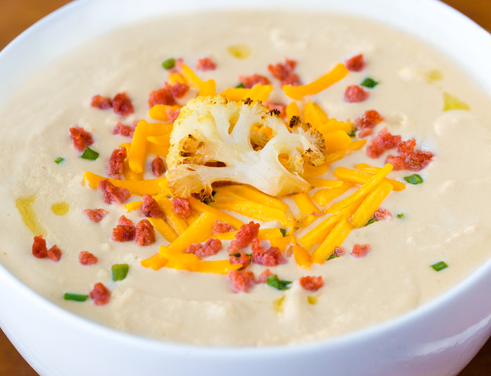 Low Carb Keto Cauliflower Soup