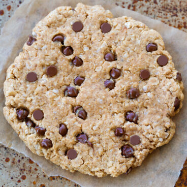 Giant Vegan Chocolate Chip Oatmeal Cookie