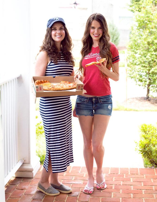 Girls Eating Pizza (Vegan)