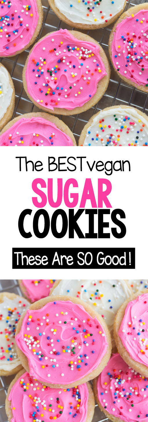 The Best SOFT Vegan Sugar Cookies!