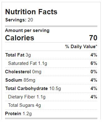 Vegan Sugar Cookie Calories
