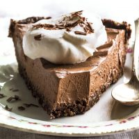 No Bake Vegan Chocolate Pie Recipe