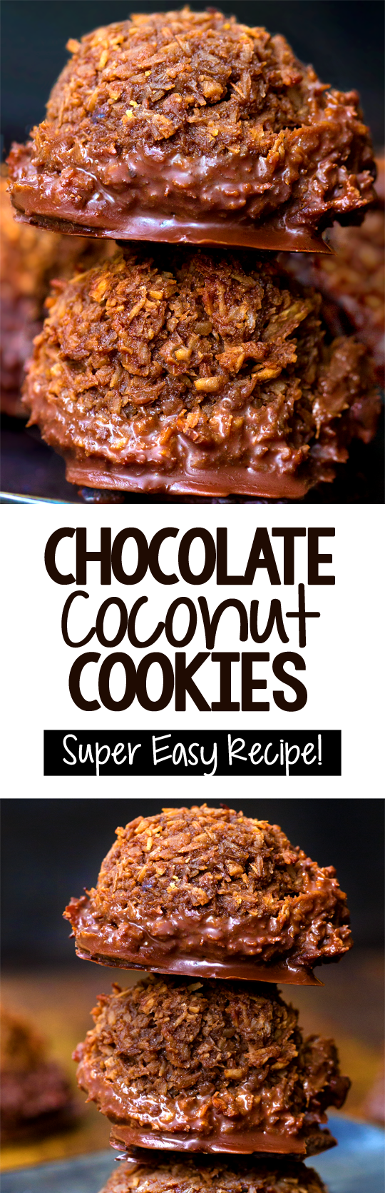 The Best Easy Chocolate Coconut Cookies