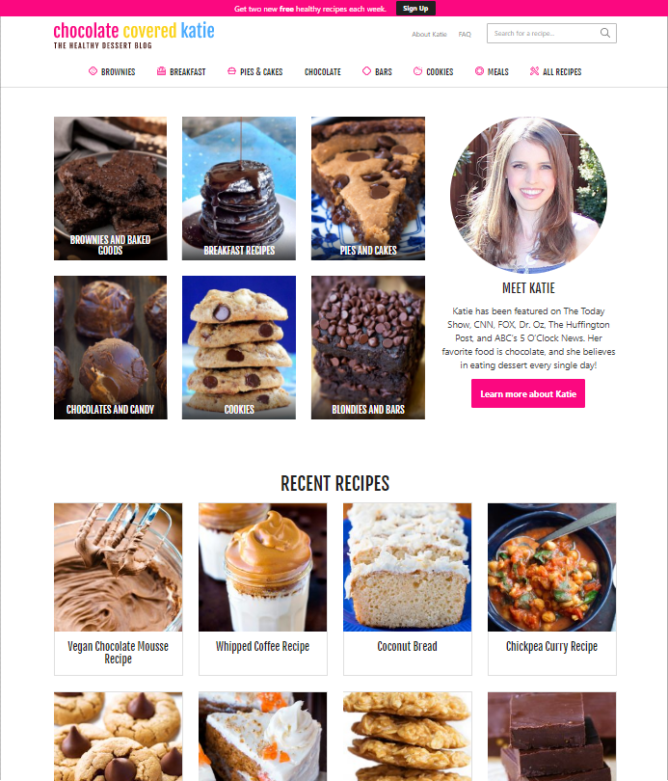Photo of My New Food Blog Design – Chocolate Covered Katie