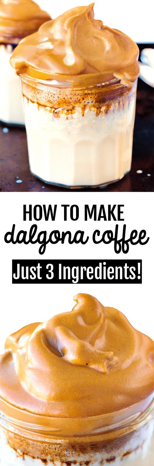 How To Make Whipped Coffee (Dalgona Coffee Recipe)