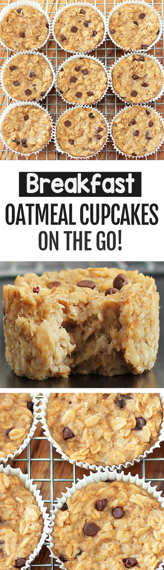 Breakfast Oatmeal Cupcakes To Go - You cook just ONCE and get a delicious breakfast for the entire month