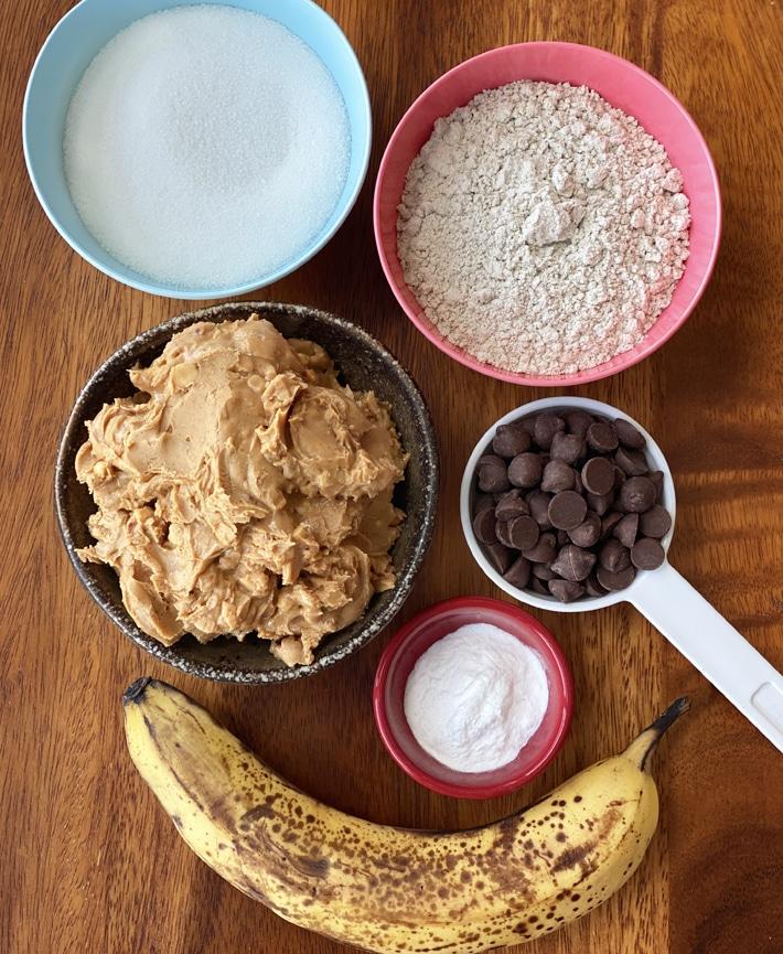Ingredientes da barra de banana