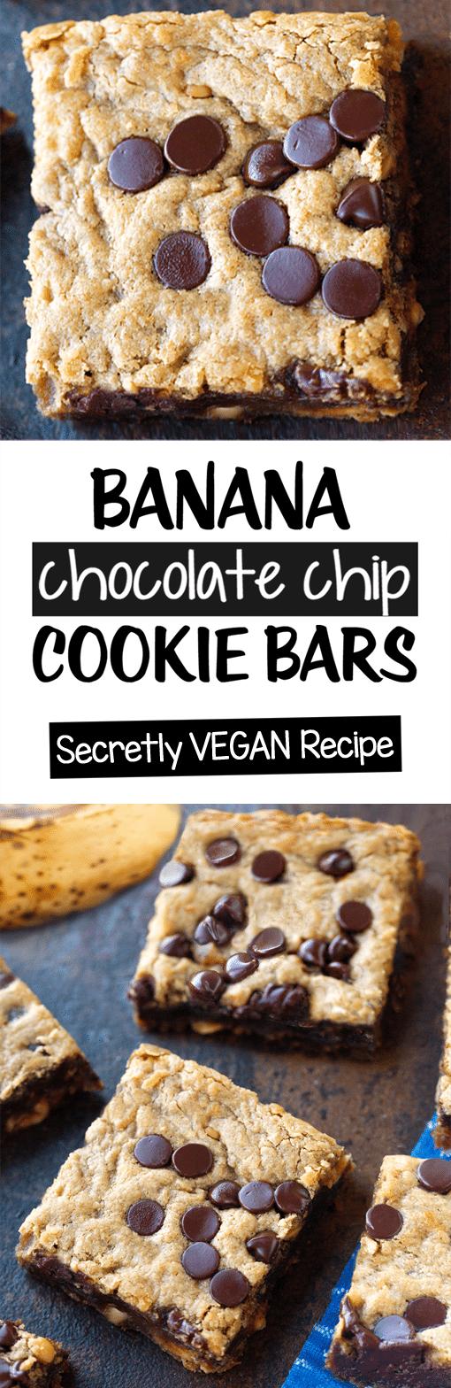 Barras de biscoito de chocolate com banana 1