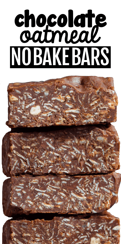 Secretly Healthy Chocolate Oatmeal No Bake Bars