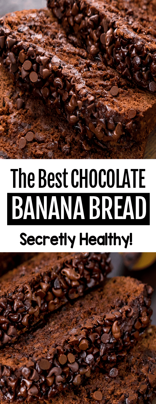 Healthy Chocolate Banana Bread Recipe (The best easy vegan recipe)