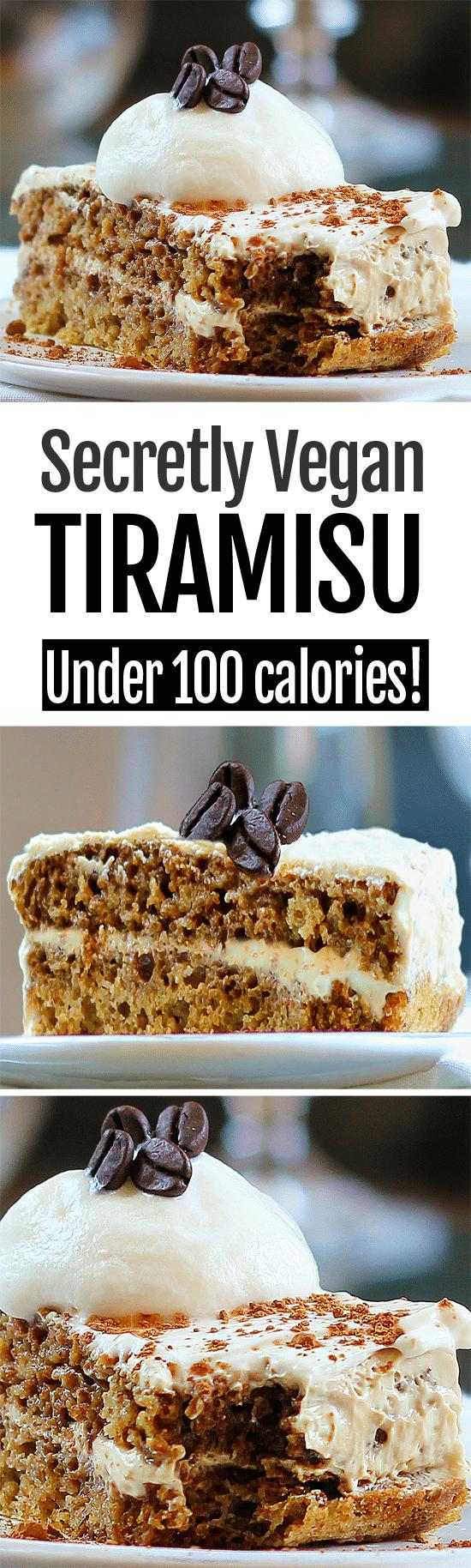 Secretly Vegan Healthy Tiramisu Recipe