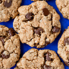 Vegan Chocolate Chip Peanut Butter Cookies