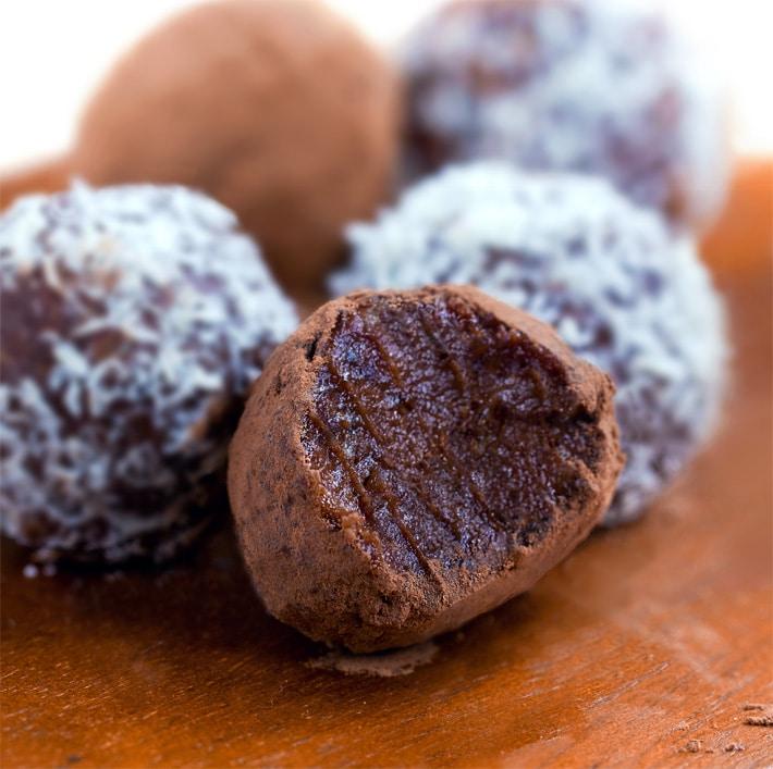 Trufas de chocolate paleo