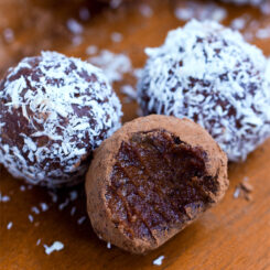 Easy Vegan Nut Free Chocolate Truffles