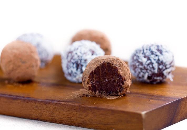 Trufas de chocolate saudáveis (sem nozes, anti-alérgicas)