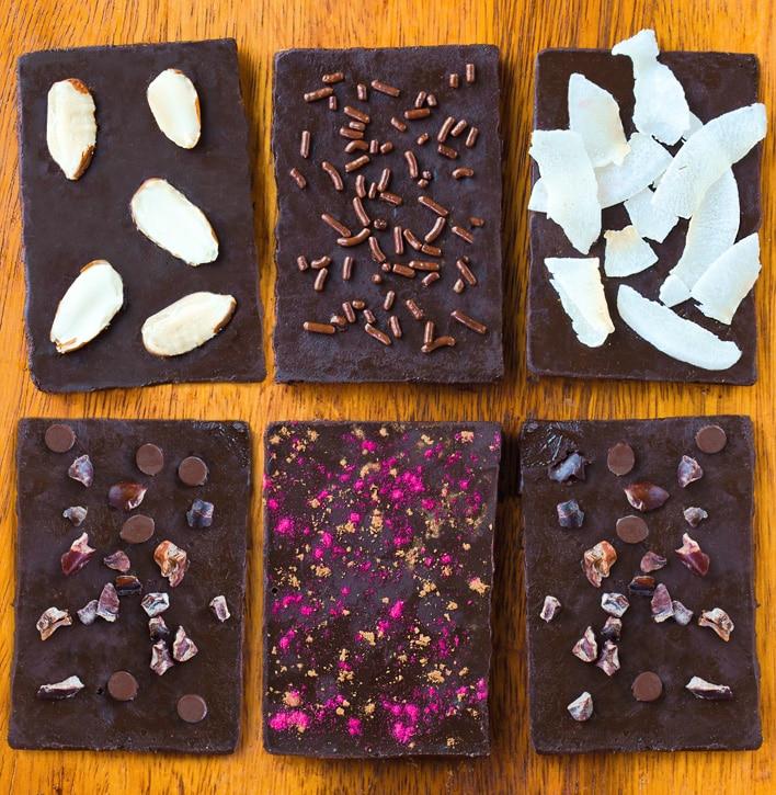 Homemade Vegan Chocolate Bars
