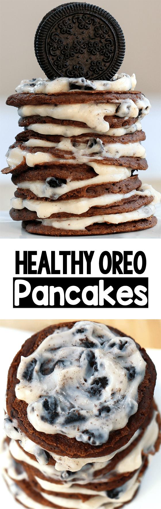 Secretly Healthy Vegan Oreo Pancake Recipe