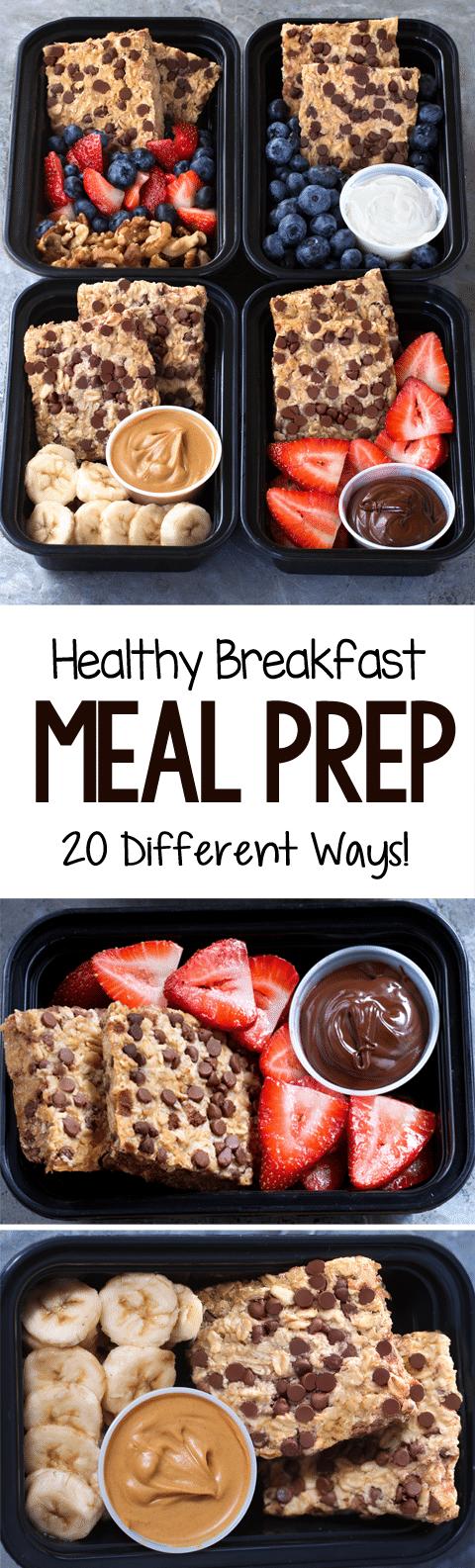 20 Easy Super Healthy Breakfast Meal Prep Recipe Ideas
