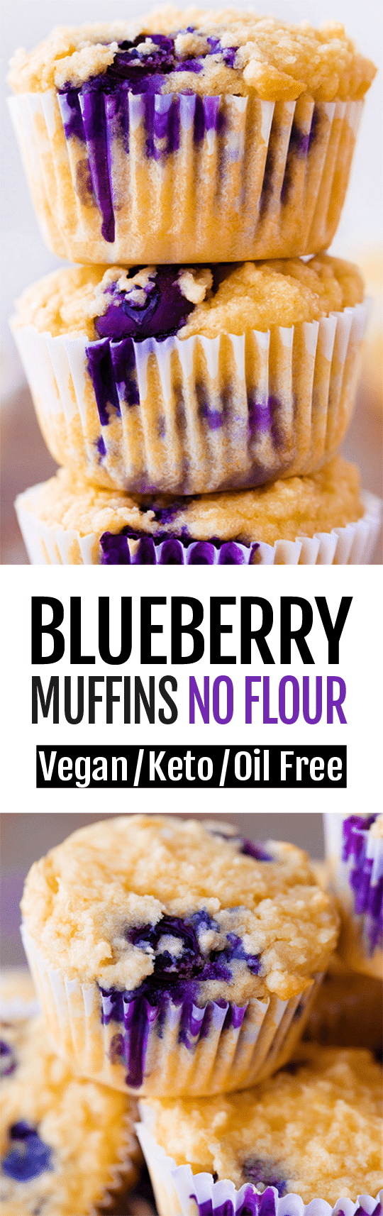 7 Ingredient Easy Keto Blueberry Muffin Recipe