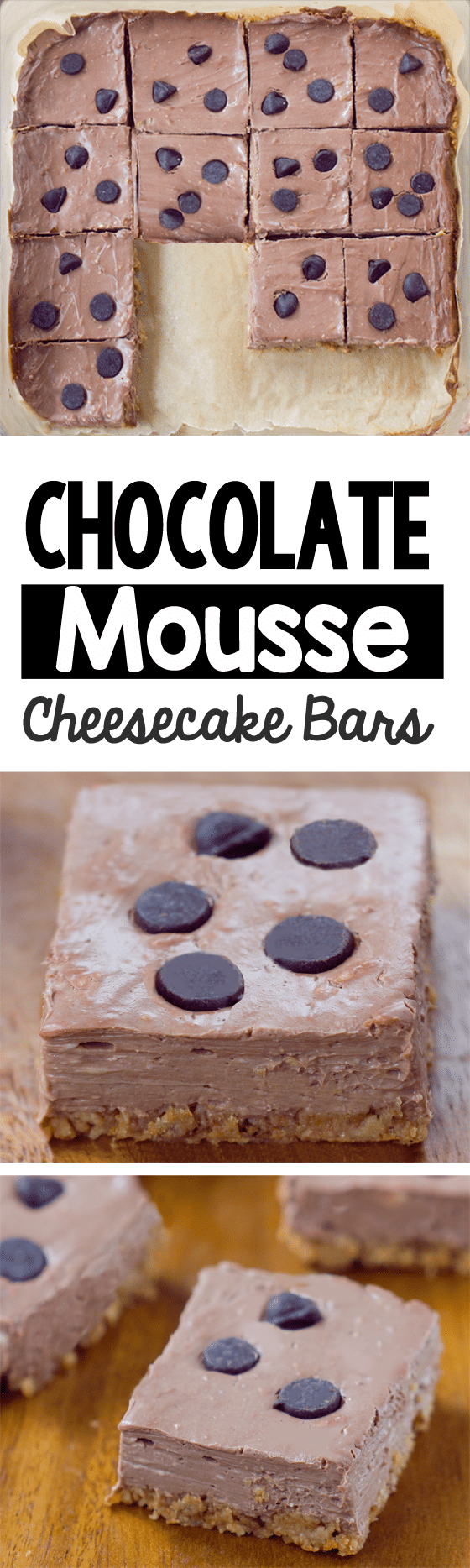 Easy Chocolate Mousse Cheesecake Bars