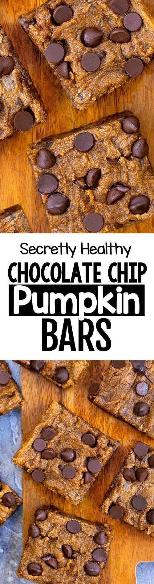 Easy Vegan Chocolate Chip Pumpkin Cookie Bars Recipe