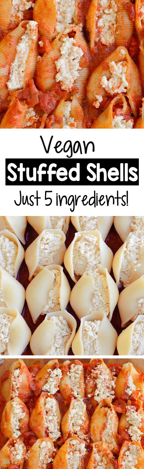 Easy Vegan Stuffed Shells For Dinner