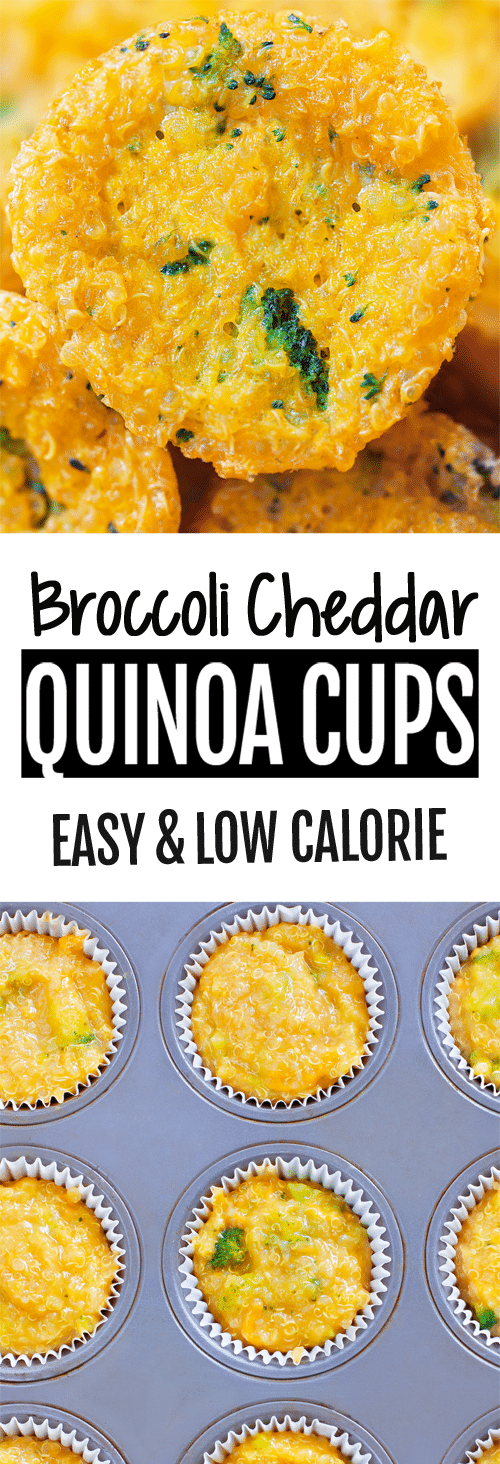 Meal Prep Broccoli Cheese Quinoa Cups To Go