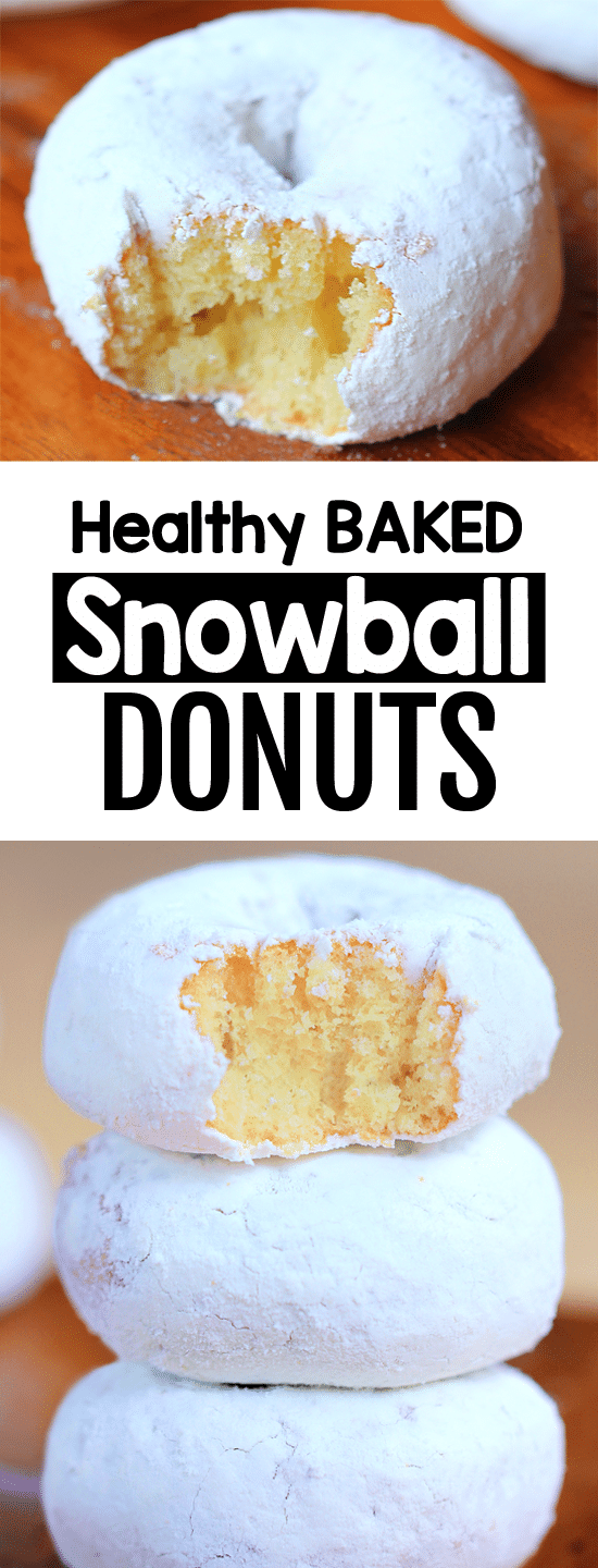 Secretly Healthy Baked Snowball Donut Recipe