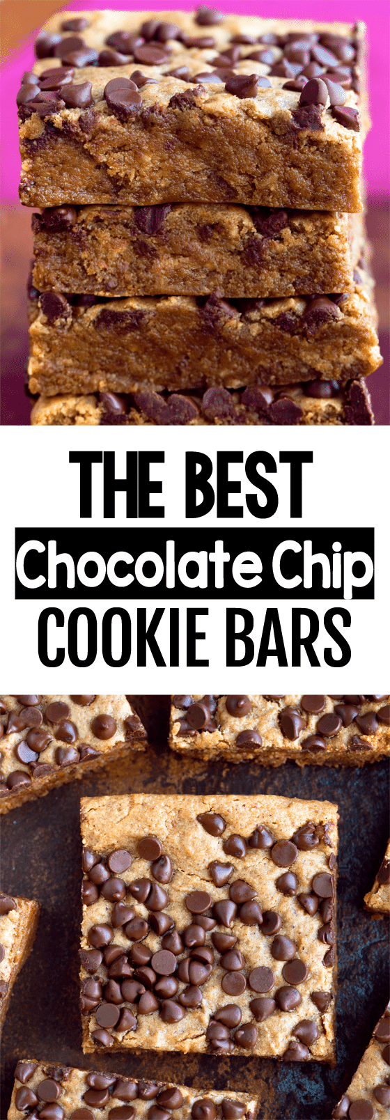 Secretly Healthy Chocolate Chip Cookie Bars