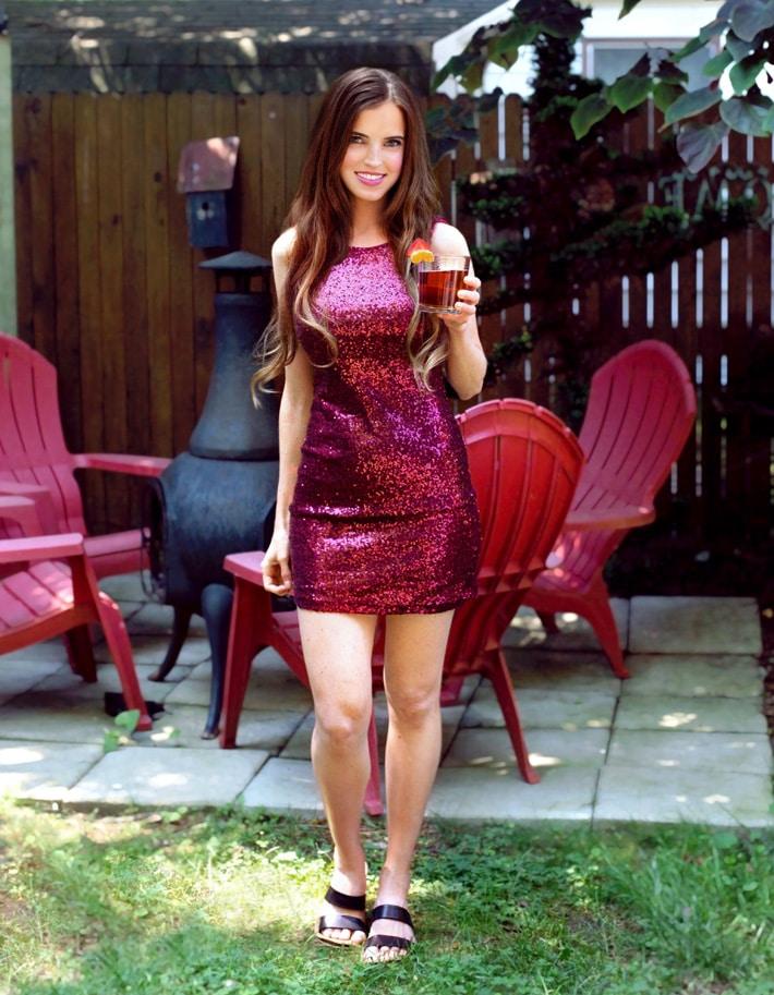 Vegan Girl With Watermelon Drink Summer Recipe