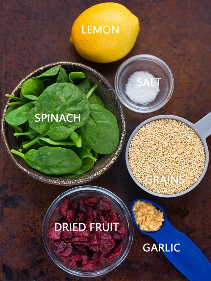 Acorn Stuffed Squash Ingredients