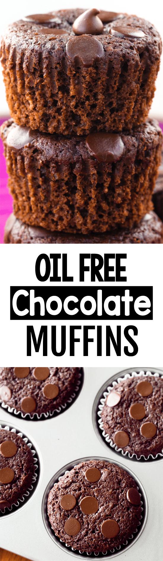 Muffins de chocolate com baixo teor de gordura 2