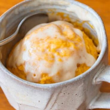 Pumpkin Cake In A Mug