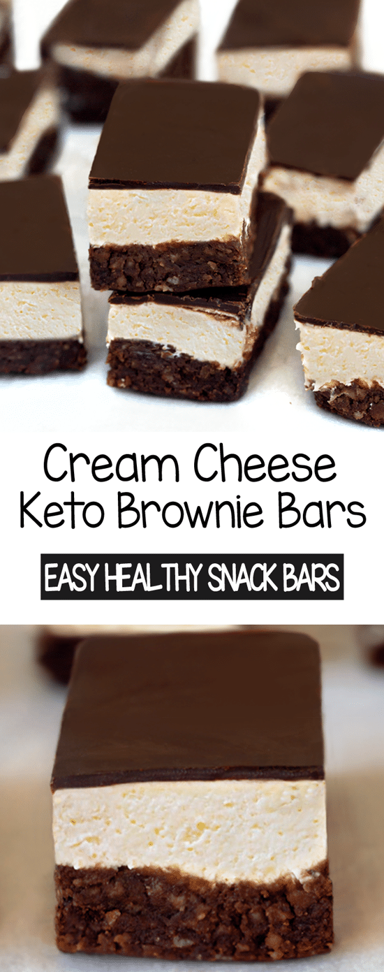 Barras de brownie de cream cheese keto 2