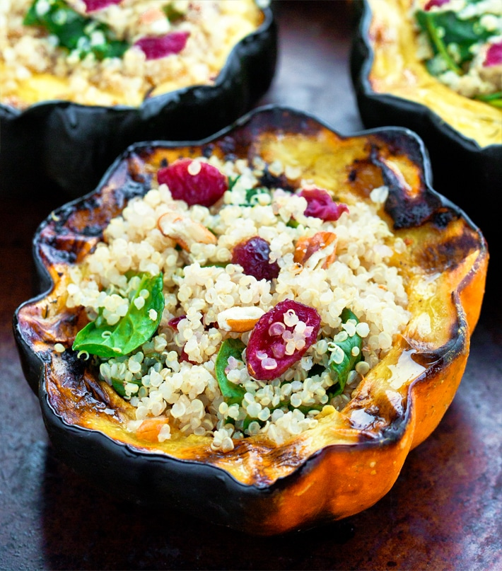 Easy Holiday Vegan Stuffed Squash Recipe