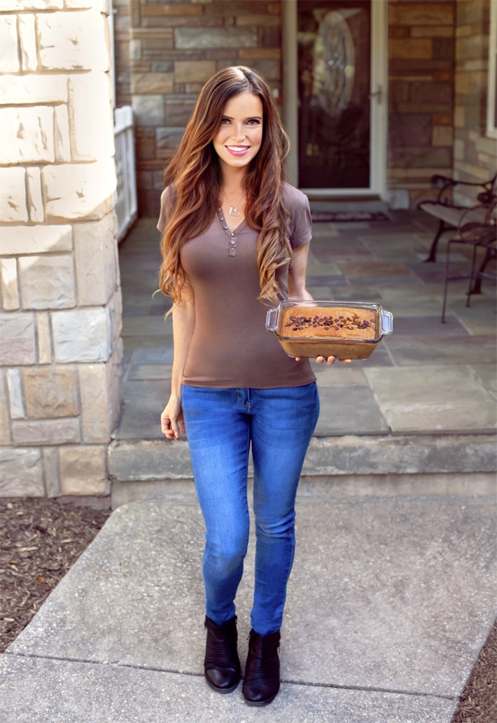 Vegan Girl With Breakfast